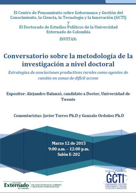 Conversatorio sobre metodología de la investigación a nivel doctoral_12_03_2015